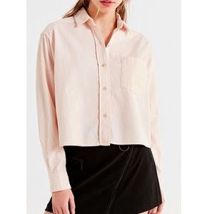 Urban Outfitters Corduroy Cropped Button Down